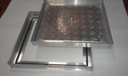 Потайные напольные алюминиевые  люки со съёмной крышкой