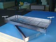 Напольный люк модели Практик выполнен из стали с последующим оцинкован