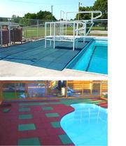 Резиновая плитка для бассейнов