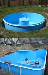 Круглый полипропиленовый бассейн  диам. 4 м